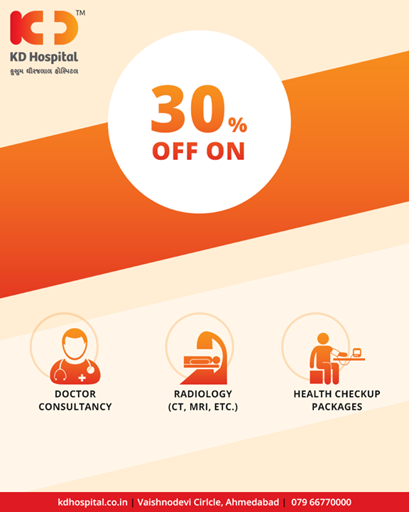 Offers for efficient healthcare!  #Offers #KDHospital #Ahmedabad #Healthcare #GoodHealth