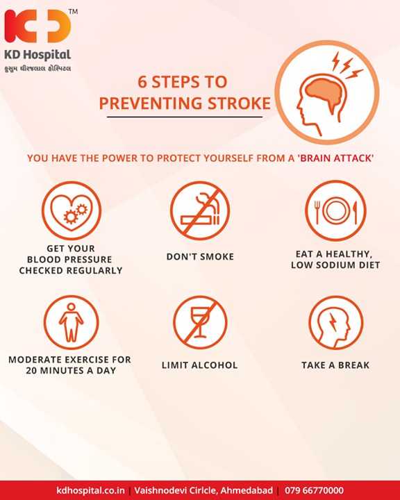 Ways to prevent brain stroke  #KDHospital #Ahmedabad #Healthcare #HealthyLifestyle #GoodHealth