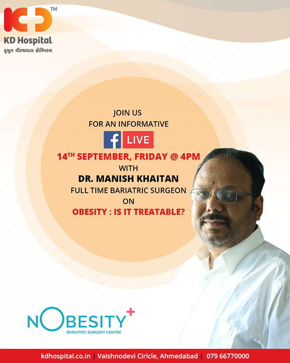 Join us for a #FBLive with Dr. Manish Khaitan to discuss