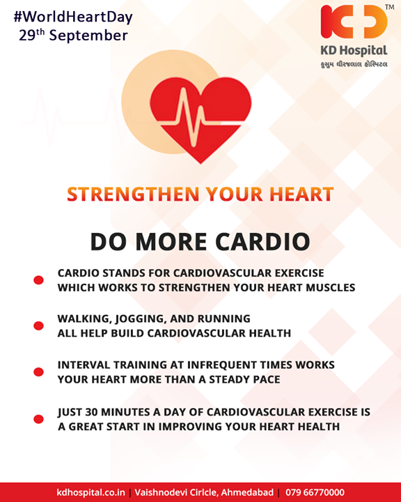 Tips to strengthen your Heart!  #KDHospital #Ahmedabad #Healthcare #HealthyLifestyle #GoodHealth #HealthyHeart #WorldHeartDay