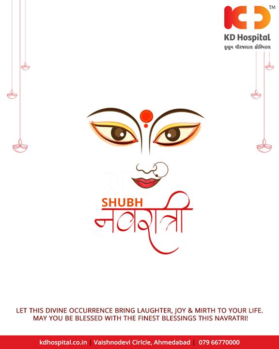 Let this divine occurrence bring laughter & good health!  #HappyNavratri #Navratri #Navratri2018 #IndianFestivals #Dandiya #Garba #KDHospital #Ahmedabad #Healthcare #HealthyLifestyle #GoodHealth