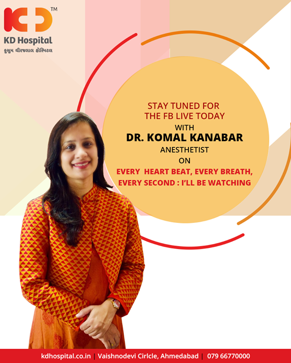 Stay tuned for the #FBLIVE today at 4pm!  #KDHospital #Ahmedabad #Healthcare #GoodHealth