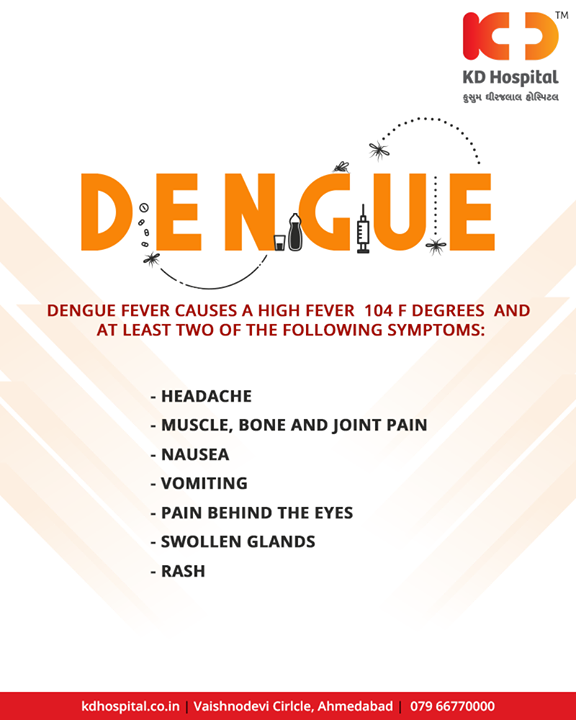 Dengue hemorrhagic fever (DHF) is characterized by a fever that lasts from 2 to 7 days, with general signs and symptoms consistent with dengue fever. When the fever declines, warning signs may develop.  #Dengue #DengueFever #KDHospital #Ahmedabad #Healthcare #HealthyLifestyle #GoodHealth