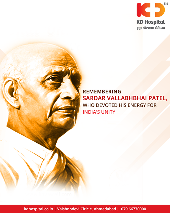 Remembering Sardar Vallabhbhai Patel, who Devoted His Energy For India's Unity.  #StatueOfUnity #UnityStatue #WorldsTallestStatue #TallestStatueOfTheWorld #TallestStatue #IronMan #IronManOfIndia #SardarVallabhbhaiPatel #KDHospital #Ahmedabad