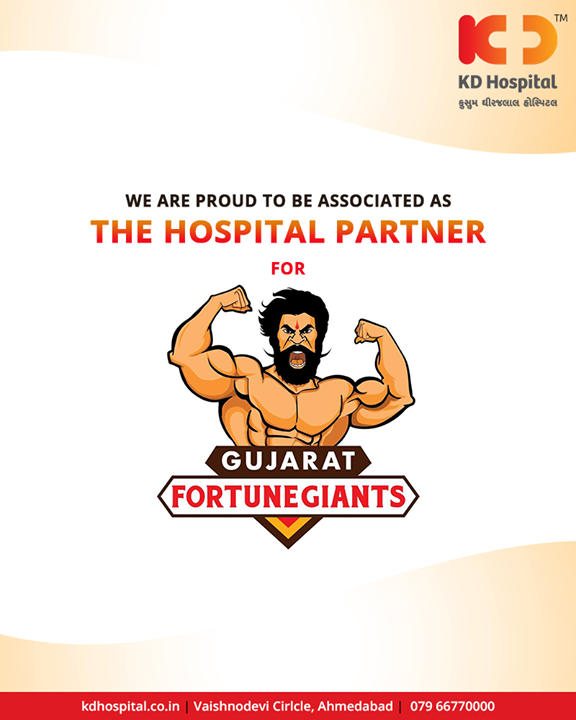 We are proud to be associated as the Hospital Partner for  Gujarat Fortunegiants  #HospitalPartner #KDHospital #Ahmedabad #Healthcare #HealthyLifestyle #GoodHealth