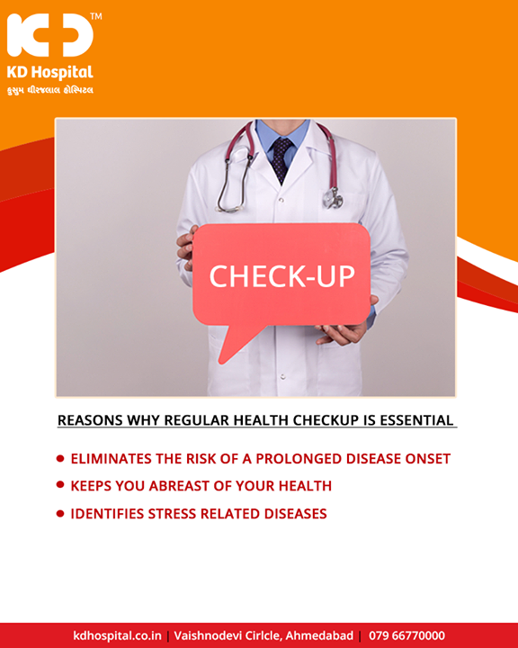 Visit us for the best health check-up plans in the city!  #HealthCheckUp #KDHospital #GoodHealth #Ahmedabad #Gujarat #India