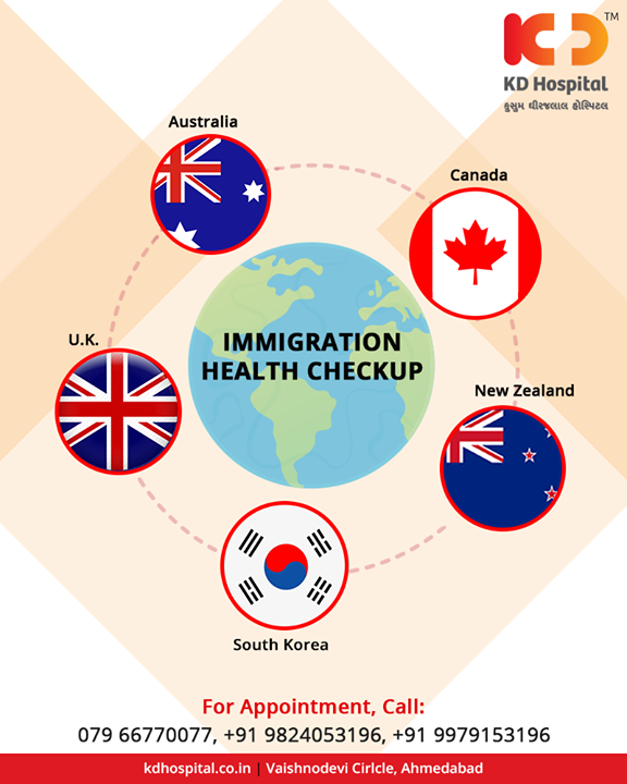 Get yourself checked before you immigrate!   #ImmigrationHealthCheckUp #KDHospital #GoodHealth #Ahmedabad #Gujarat #India