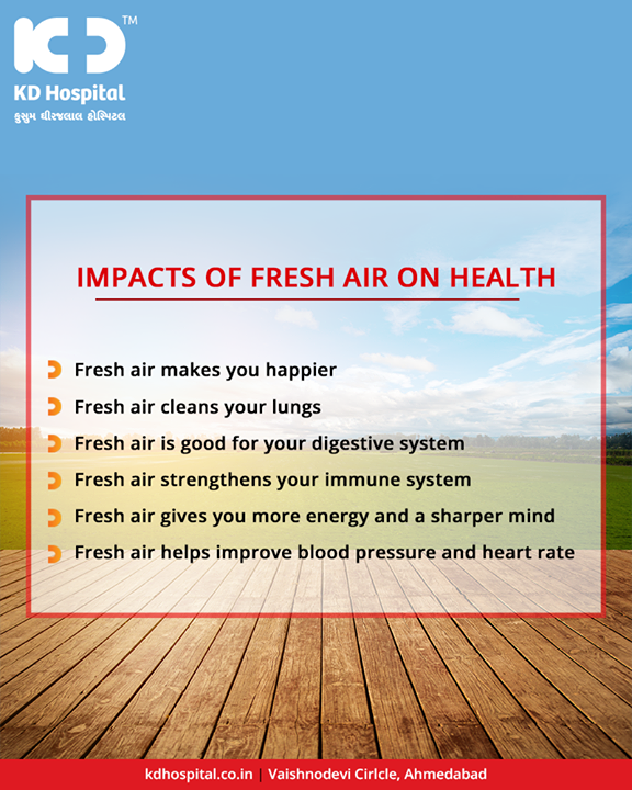 Reasons why you should spend time outdoors in the fresh air to improve your wellbeing!  #KDHospital #GoodHealth #Ahmedabad #Gujarat #India