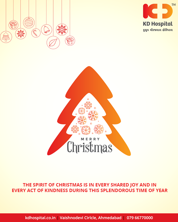 The spirit of Christmas is in every shared joy and in every act of kindness during this splendorous time of the year.   #Christmas #MerryChristmas #Christmas2018 #Celebration #KDHospital #GoodHealth #Ahmedabad #Gujarat #India