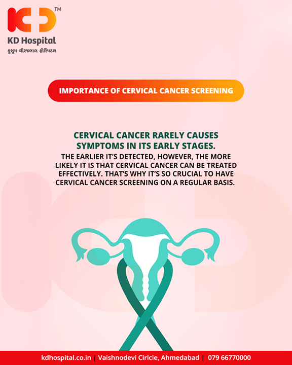 Get it detected early, get yourself checked!    #CervicalCancer #CervicalCancerSymptoms #Symptoms #KDHospital #GoodHealth #Ahmedabad #Gujarat #India
