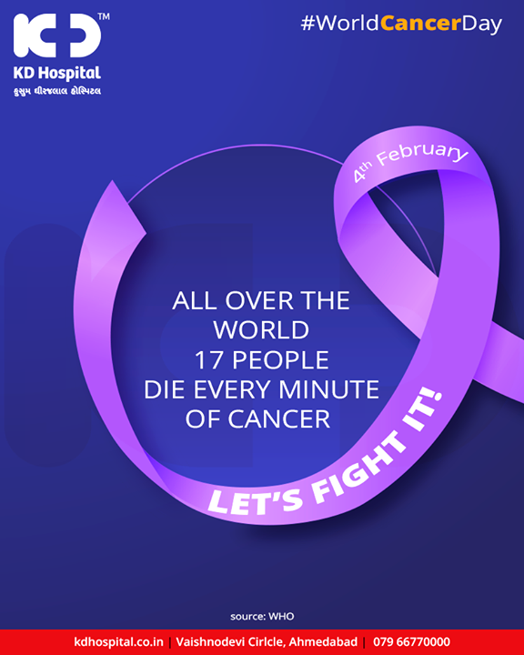 Let's fight cancer by being more aware about ourselves, regular screening & basic awareness!   #WorldCancerDay #WorldCancerDay2019 #CancerDay #Awareness #KDHospital #GoodHealth #Ahmedabad #Gujarat #India