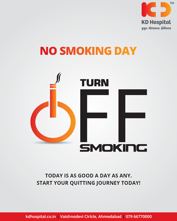 Today is as good a day as any. Start your quitting journey today!  #NoSmokingDay #KDHospital #GoodHealth #Ahmedabad #Gujarat #India