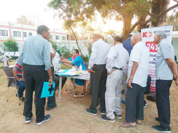 Timely diagnosis and treatments help resolve a number of diseases.   KD Hospital had organized a basic health screening camp at Eklavya Sports Academy for a basic health check-up of its members.  #KDHospital #GoodHealth #Ahmedabad #Gujarat #India