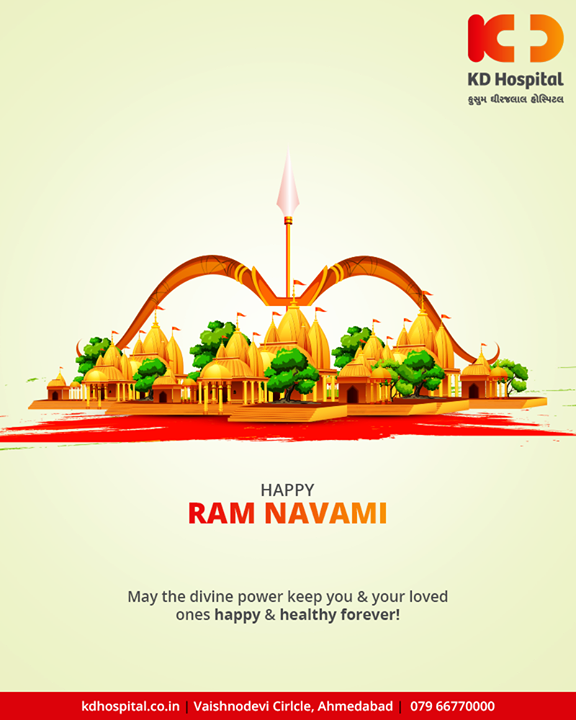 May the divine power keep you & your loved ones happy & healthy forever!   #RamNavami #रामनवमी  #JaiShriRam #RamNavami2019 #HappyRamNavami #IndianFestival  #KDHospital #GoodHealth #Ahmedabad #Gujarat #India