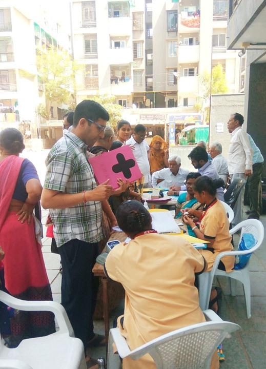 Glimpses of health screening camp at Shilp Solace residency, IOC Road, Chandkheda.  #KDHospital #GoodHealth #Ahmedabad #Gujarat #India