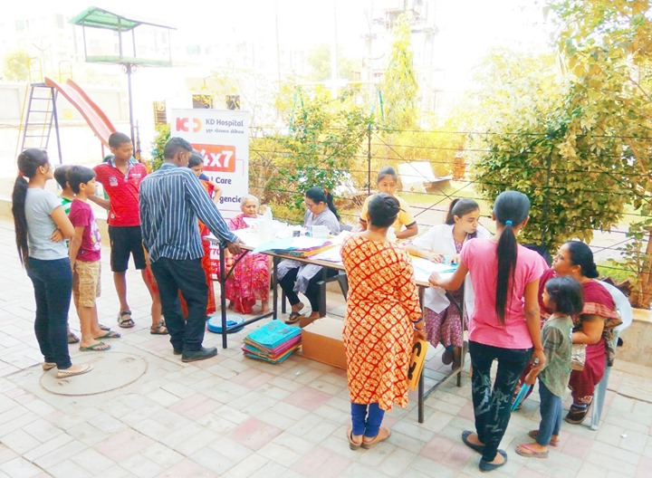 Glimpses of health screening camp at Maharaja Enclave, New CG Road, Chandkheda  #KDHospital #GoodHealth #Ahmedabad #Gujarat #India