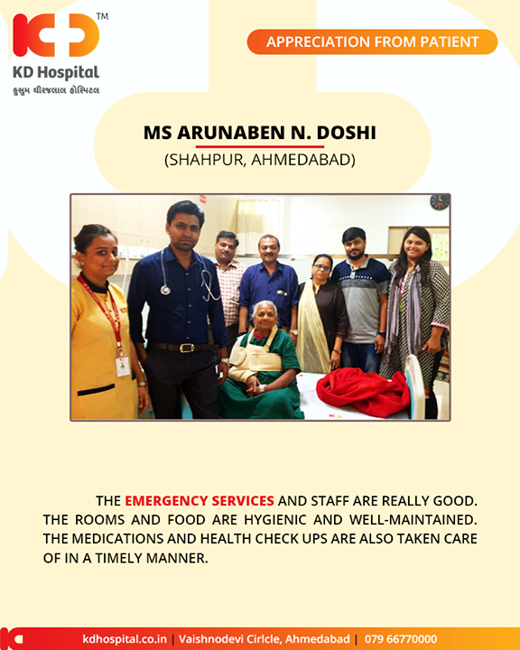 It feels great to receive such positive & heart-warming appreciation from our patients!  #KDHospital #GoodHealth #Ahmedabad #Gujarat #India #Appreciation
