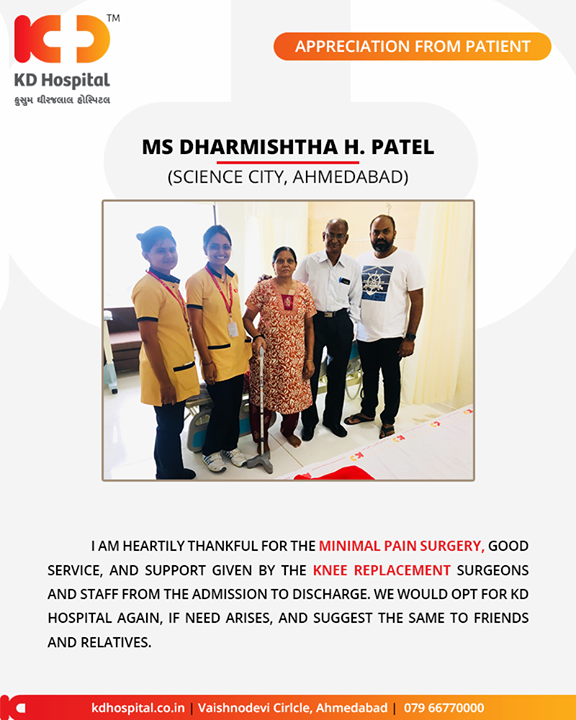 Thanking our patients for putting their trust in us!   #KDHospital #GoodHealth #Ahmedabad #Gujarat #India #Appreciation