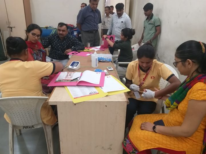 Our humble initiatives towards giving back to society in our own way! Glimpses from the Health Screening Camp at Rajya Kar Bhavan, Ashram Road  #KDHospital #GoodHealth #Ahmedabad #Gujarat #India