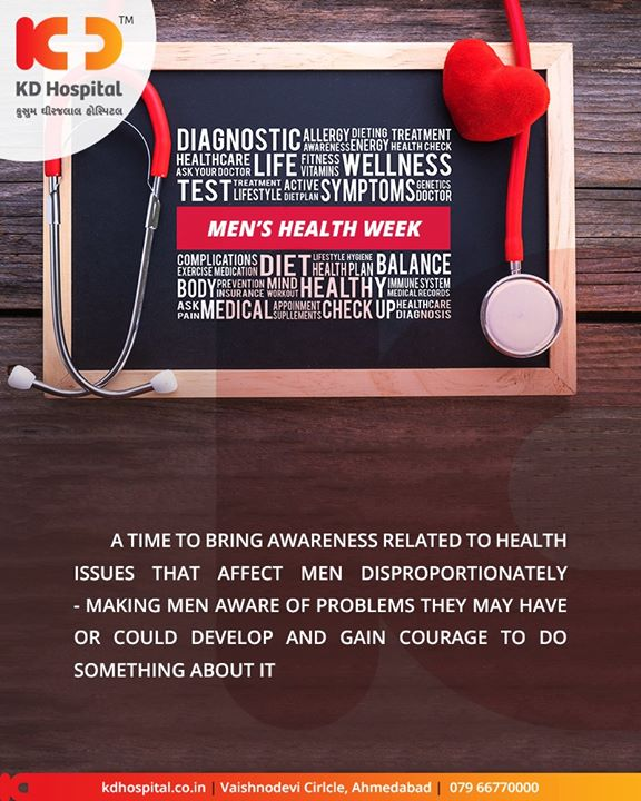 Let's spread awareness!  #MensHealthWeek #KDHospital #GoodHealth #Ahmedabad #Gujarat #India