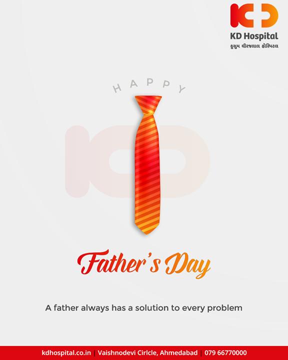 A father always has a solution to every problem.  #HappyFathersDay #FathersDay #FathersDay2019 #DAD #Father #Fatherhood  #KDHospital #GoodHealth #Ahmedabad #Gujarat #India