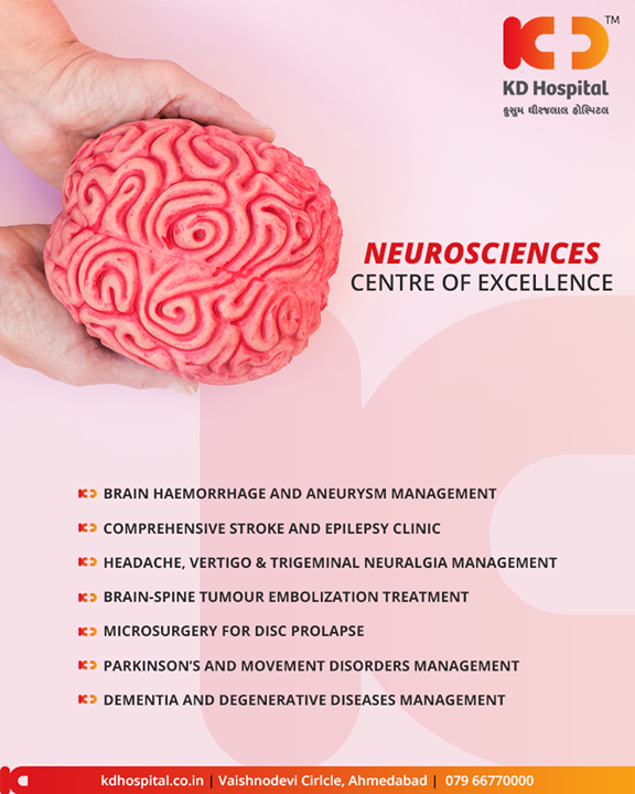 The department of neurosciences at KD Hospital is well equipped to take efficient care of your brain  #KDHospital #GoodHealth #Ahmedabad #Gujarat #India