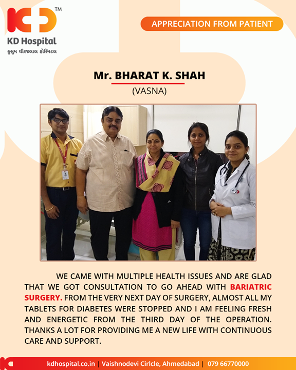 Such positivity adds to our motivation of extending care in HEALTHCARE!   #KDHospital #GoodHealth #Ahmedabad #Gujarat #India #Appreciation
