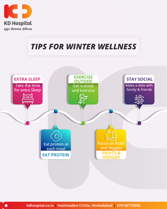 Tips for winter wellness.  #Tips #KDHospital #GoodHealth #Ahmedabad #Gujarat #India