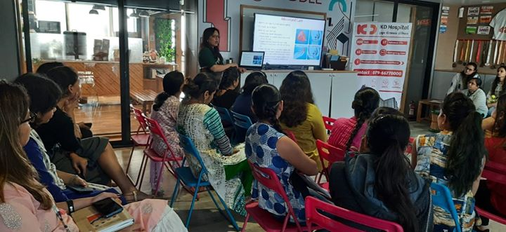 Health talks and health education are more important than you consider them to be!  Here's a glimpse of the insightful health care talk session conducted under the supervision of the senior gynecologist; Dr. Nita Thakre at the premises of InfoAnalytica Consulting Pvt. Ltd especially for the female staff on duty.  #KDHospital #GoodHealth #Ahmedabad #Gujarat #India