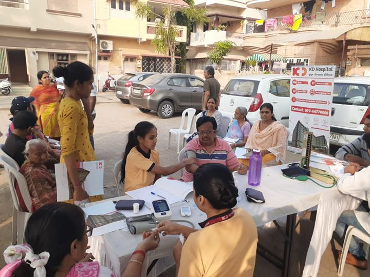Glimpses from Health Checkup Camp at Rajeshwari Colony, Maninagar  #KDHospital #goodhealth #health #wellness #fitness #healthy #healthiswealth #wealth #healthyliving #joy #patientscare #Ahmedabad #Gujarat #India
