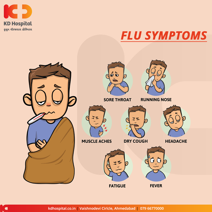 Symptoms of Flu  #Flu #KDHospital #GoodHealth #Ahmedabad #Gujarat #India