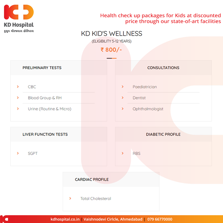 Taking into consideration our vision to ensure 'well-being' as a humane commitment to enliven humanity, KD Hospital provides health check up packages in Ahmedabad at very affordable price.  #KDHospital #goodhealth #health #wellness #fitness #healthy #healthiswealth #wealth #healthyliving #joy #patientscare #Ahmedabad #Gujarat #India