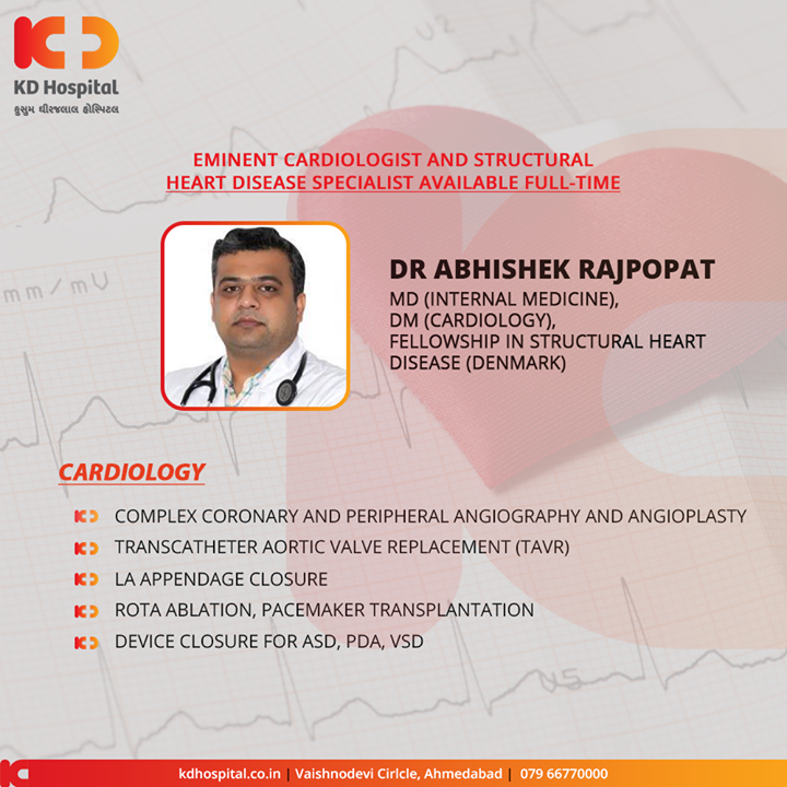 Eminent cardiologist and structural disease specialist available full-time at KD Hospital  For appointment call: +91 79 6677 0000  #KDHospital #goodhealth #health #wellness #fitness #healthy #healthiswealth #wealth #healthyliving #joy #patientscare #Ahmedabad #Gujarat #India