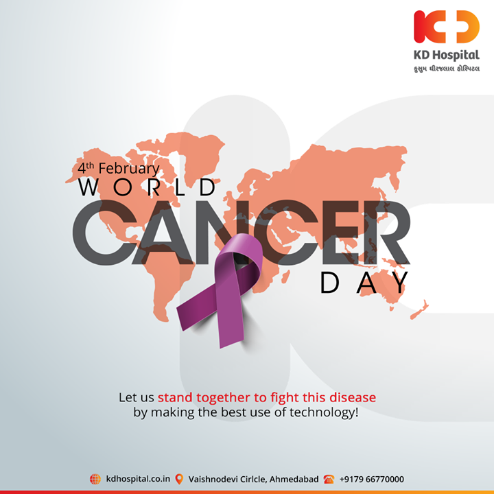 Let us stand together to fight this disease by having the best use of technology!   #WorldCancerDay #cancerday #Cancer #WorldCancerDay2020 #cancerawareness #nevergiveup #IAmAndIWill #KDHospital #goodhealth #health #wellness #fitness #healthy #healthiswealth #wealth #healthyliving #joy #patientscare #Ahmedabad #Gujarat #India