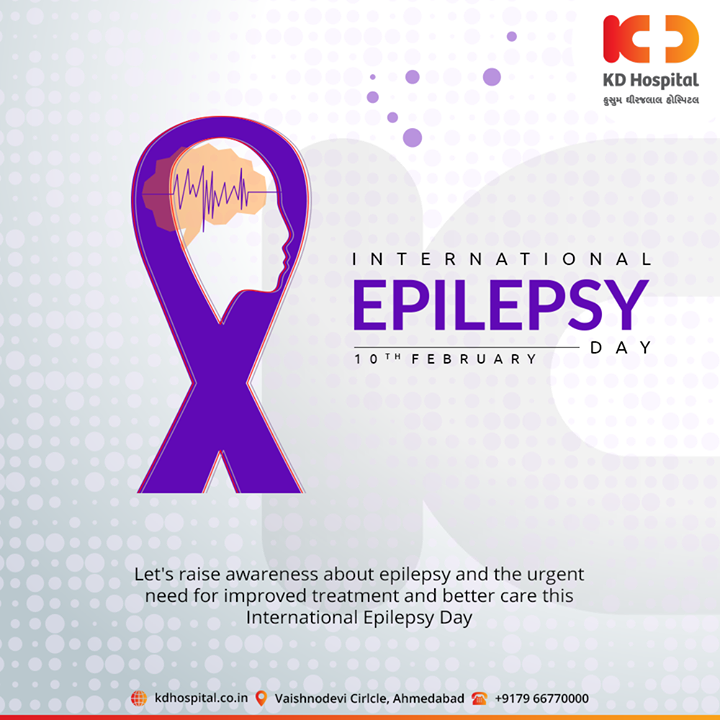 Let's raise awareness about epilepsy and the urgent need for improved treatment and better care this International Epilepsy Day  #InternationalEpilepsyDay #EpilepsyDay #KDHospital #GoodHealth #Health #Wellness #Fitness #Healthy #HealthisWealth #Wealth #HealthyLiving #Joy #PatientsCare #Ahmedabad #Gujarat #India