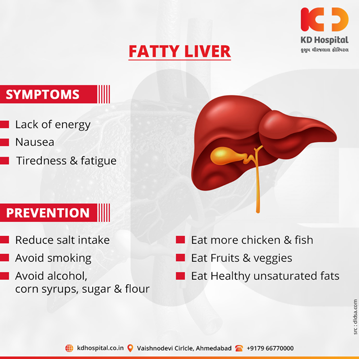 Risk factors that are most commonly linked to fatty liver disease  For appointment call: +91 79 6677 0000  #KDHospital #goodhealth #health #wellness #fitness #healthy #healthiswealth #wealth #healthyliving #joy #patientscare #Ahmedabad #Gujarat #India