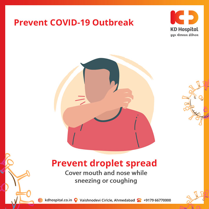 Cover mouth and nose while sneezing or coughing and stop spreading COVID-19  #CoronaVirus #CoronaAlert #StayAware #StaySafe #pandemic #caronavirusoutbreak #Quarantined #QuarantineAndChill #coronapocalypse #KDHospital #goodhealth #health #wellness #fitness #healthiswealth #healthyliving #patientscare #Ahmedabad #Gujarat #India