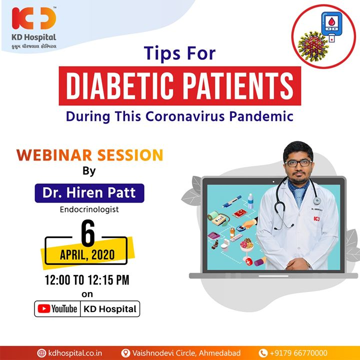 Diabetic and worried that you or your loved ones are more susceptible to COVID-19?  Our endocrinology and diabetes superspecialist, Dr Hiren Patt, will be sharing