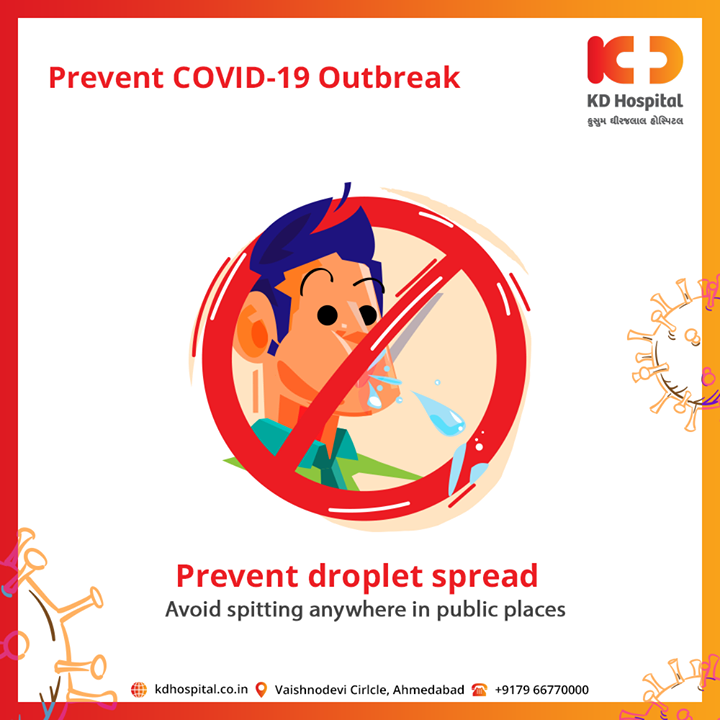 Prevention is better then cure. Avoid spitting anywhere in public places and prevent droplet spread.  #CoronaVirus #CoronaAlert #StayAware #StaySafe #pandemic #caronavirusoutbreak #Quarantined #QuarantineAndChill #coronapocalypse #KDHospital #goodhealth #health #wellness #fitness #healthiswealth #healthyliving #patientscare #Ahmedabad #Gujarat #India