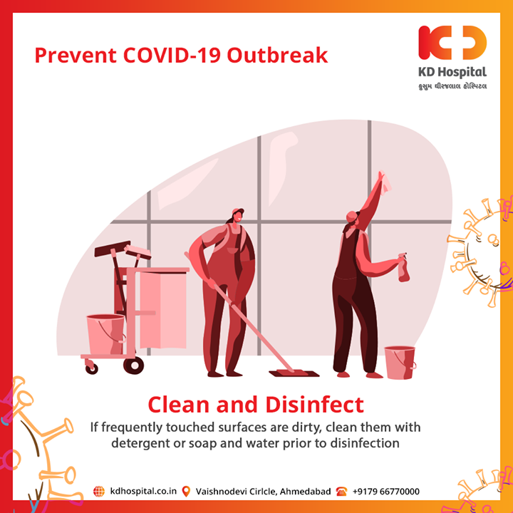 Disinfecting kills germs on surfaces or objects. Disinfecting works by using detergent & soap to kill germs on surfaces or objects.  #CoronaVirus #CoronaAlert #StayAware #StaySafe #pandemic #caronavirusoutbreak #Quarantined #QuarantineAndChill #coronapocalypse #KDHospital #goodhealth #health #wellness #fitness #healthiswealth #healthyliving #patientscare #Ahmedabad #Gujarat #India