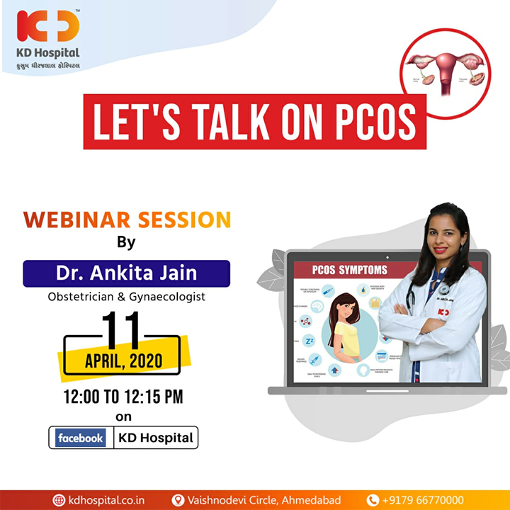 Dr Ankita Jain, Obstetrician and Gynaecologist at KD Hospital, will be available for a live webinar session on