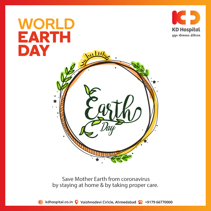 Let us come together to collectively improve the condition of our mother earth.  #WorldEarthDay #CoronaVirus #CoronaAlert #StayAware #StaySafe #pandemic #caronavirusoutbreak #Quarantined #QuarantineAndChill #coronapocalypse #KDHospital #goodhealth #health #wellness #fitness #healthiswealth #healthyliving #patientscare #Ahmedabad #Gujarat #India