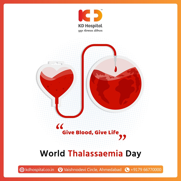 Give Blood, Give Life  #WorldThalassaemiaDay #KDHospital #goodhealth #health #wellness #fitness #healthiswealth #healthyliving #patientscare #Ahmedabad #Gujarat #India