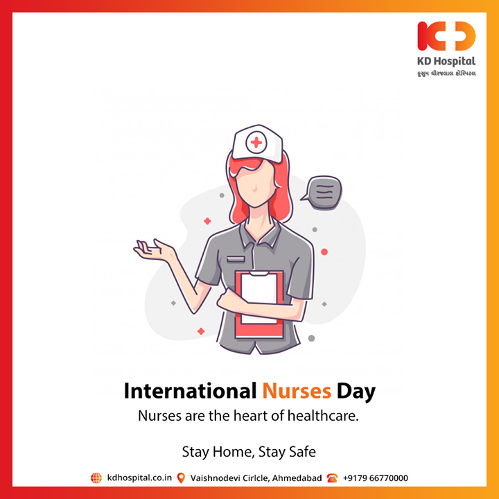 Nurses are the heart of healthcare.  #InternationalNursesDay #NursesDay #KDHospital #goodhealth #health #wellness #fitness #healthiswealth #healthyliving #patientscare #Ahmedabad #Gujarat #India