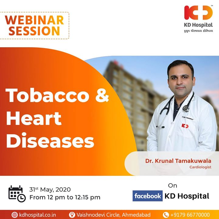 Breathe Healthily, Live Happily. On World No Tobacco Day, Dr Krunal Tamakuwala will be available in a webinar session on