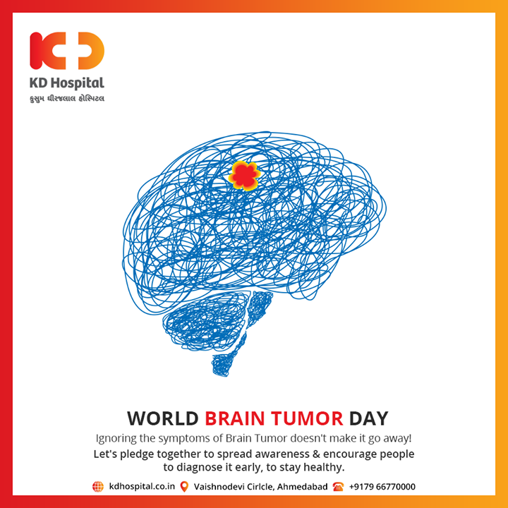 Let's pledge together to spread awareness & encourage people to diagnose it early, to stay healthy.  #WorldBrainTumorDay #KDHospital #goodhealth #health #wellness #fitness #healthiswealth #healthyliving #patientscare #Ahmedabad #Gujarat #India