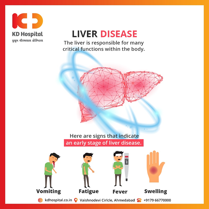 The liver is responsible for many critical functions within the body.  #KDHospital #goodhealth #health #wellness #fitness #healthiswealth #healthyliving #patientscare #Ahmedabad #Gujarat #India