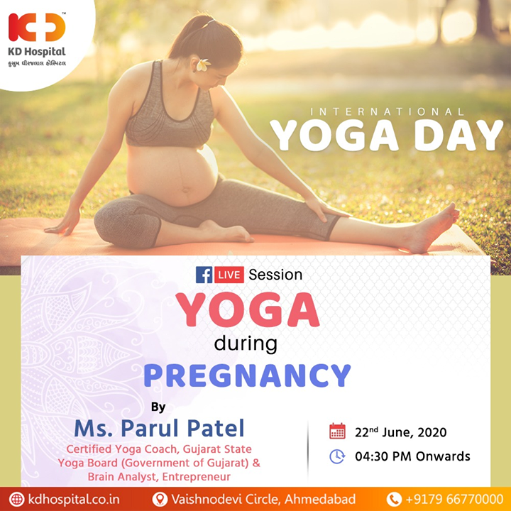 Note : KD Hospital strongly recommends that you should consult your doctor before starting any exercise during pregnancy.  #Yoga #YogaDay #InternationalYogaDay #KDHospital #goodhealth #health #wellness #fitness #healthiswealth #healthyliving #patientscare #Ahmedabad #Gujarat #india