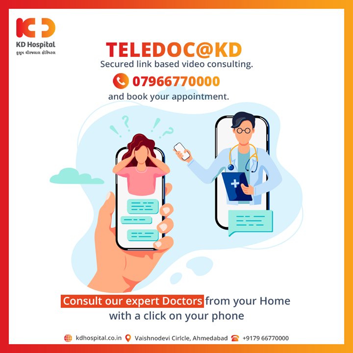 No more adding to your pain of travelling while you are unwell.  Take advantage of KD Hospital's Telemedicine services by calling us on 07966770000.  #KDHospitalTelemedicine #Telemedicineservices #KDHospital #goodhealth #health #wellness #fitness #healthiswealth #healthyliving #patientscare #Ahmedabad #Gujarat #india
