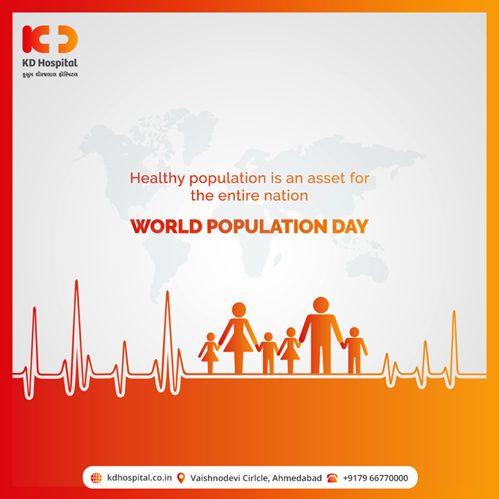 Healthy population is an asset for the entire nation  #WorldPopulationDay #PopulationDay #WorldPopulationDay2020 #KDHospital #goodhealth #health #wellness #fitness #healthy #healthiswealth #wealth #healthyliving #joy #patientscare #Ahmedabad #Gujarat #India